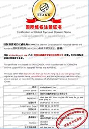 國際域名注冊證書